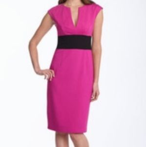 Trina Turk Hot Pink Algonquin Sheath Dress Sm
